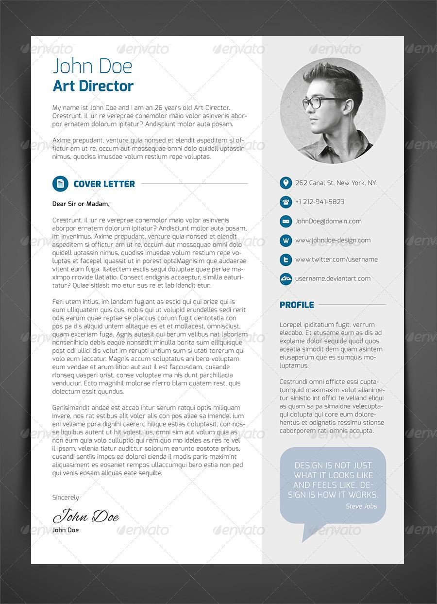 3 Piece Resume Cv Cover Letter Download | Resume Pdf Download