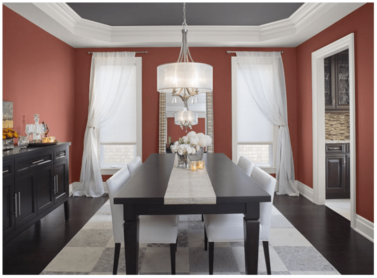 Red And White Dining Room Sophisticated Color Schemes For Appetizing Dining Room