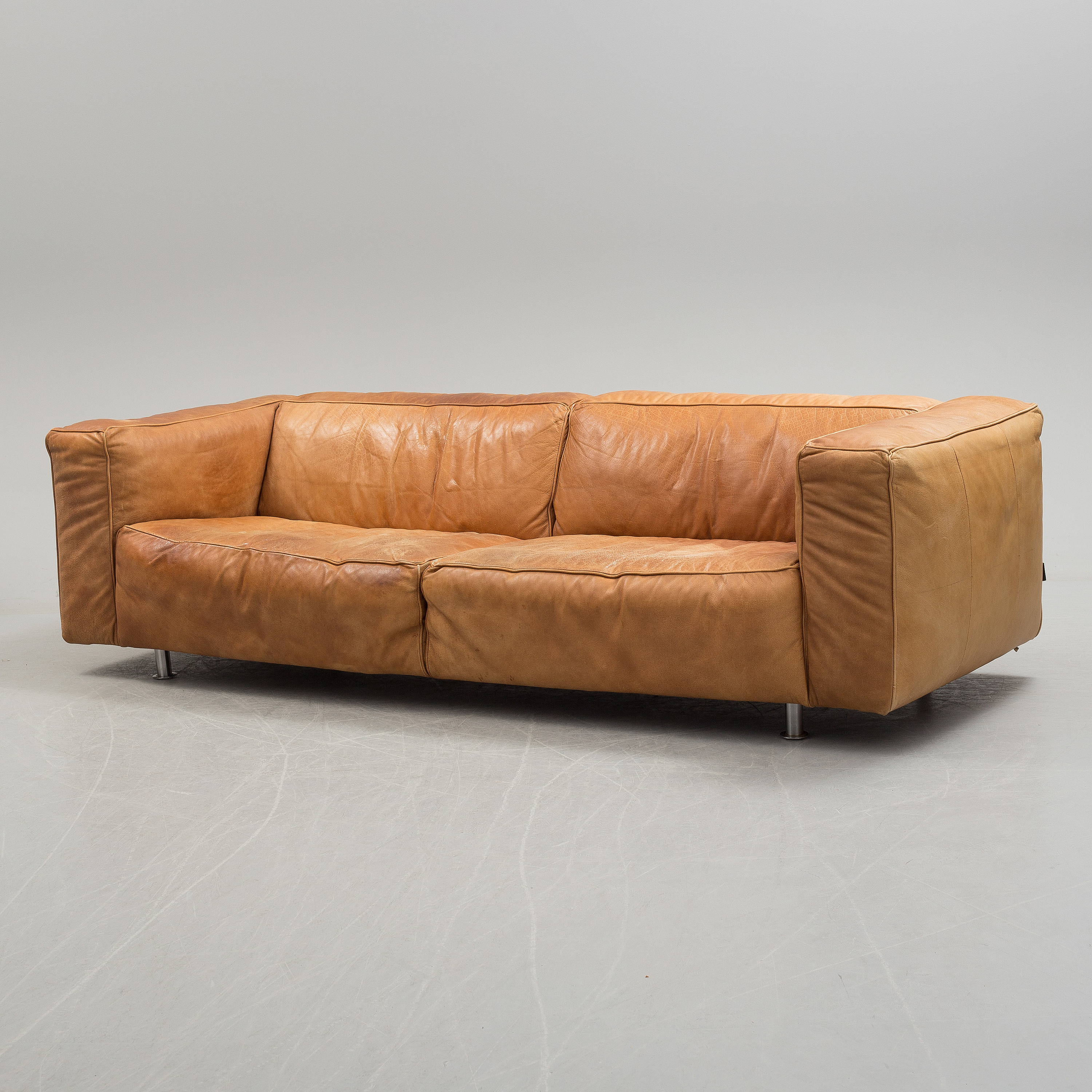 Kartell Sofa Piero Lissoni And Carlo Tamborini A Leather Upholstered Sofa From