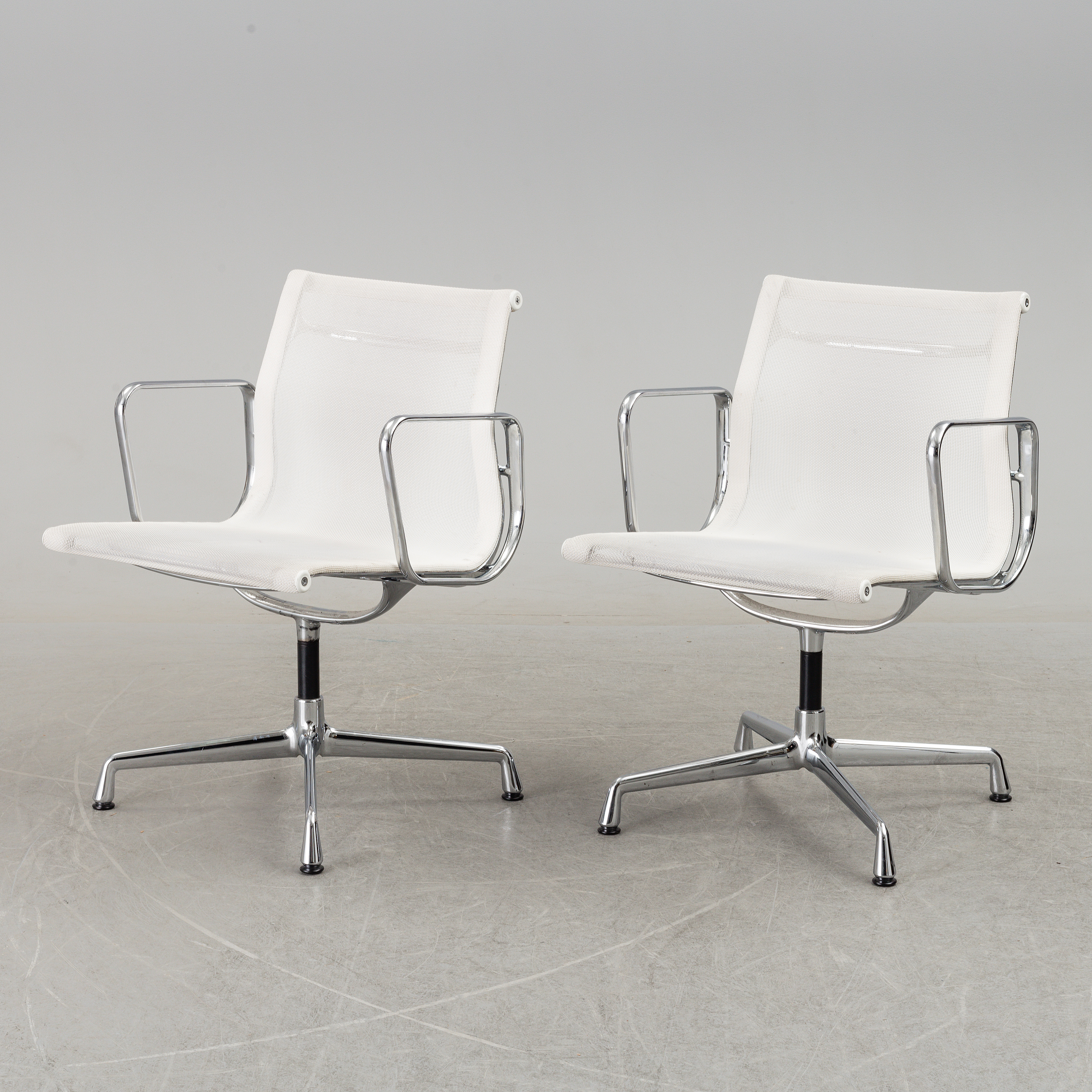 Eames 108 A Pair Of Ea 108 Desk Chairs By Charles Ray Eames For Vitra