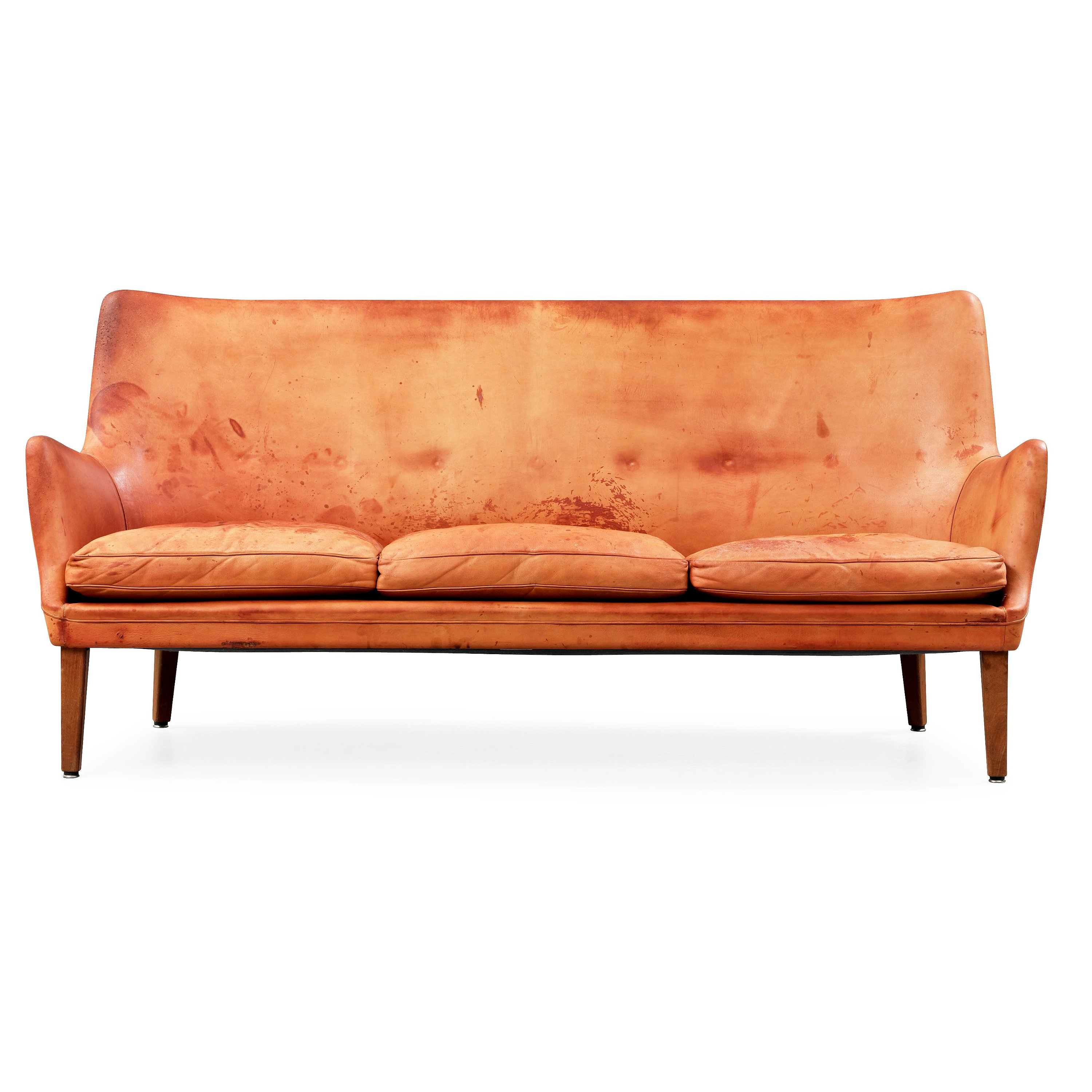 Sofa 60s An Arne Vodder Brown Leather Sofa Executed By Ivan Schlechter