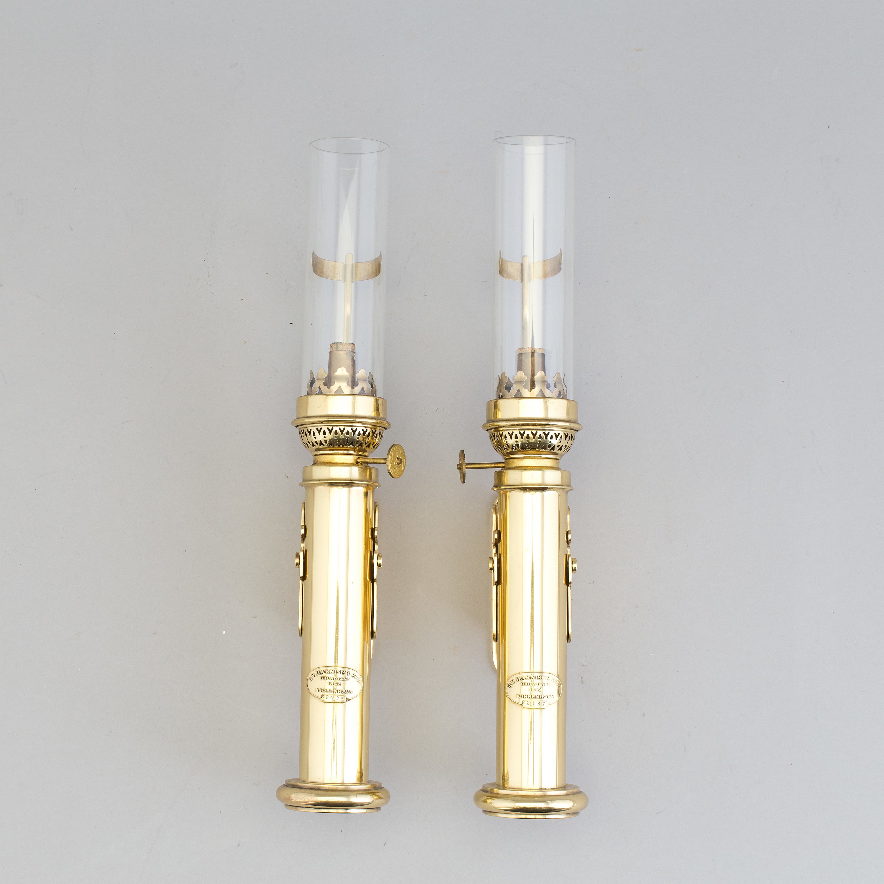 Modern Kerosene Lamp A Pair Of Brass Kerosene Lamps Gv Harnisch Eftr Copenhagen 20th