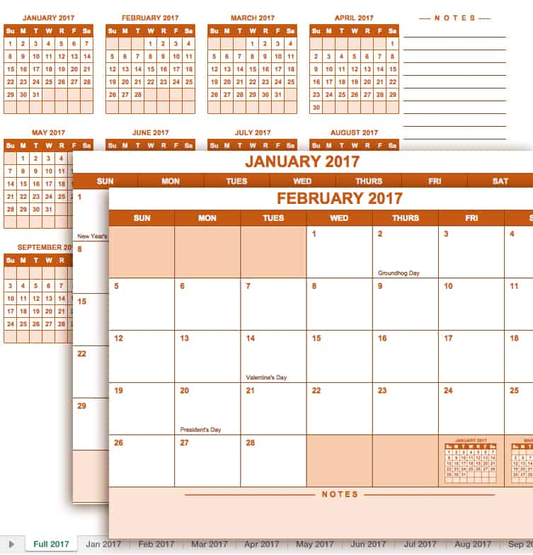 yearly academic calendar excel template - Teacheng - academic calendar templates