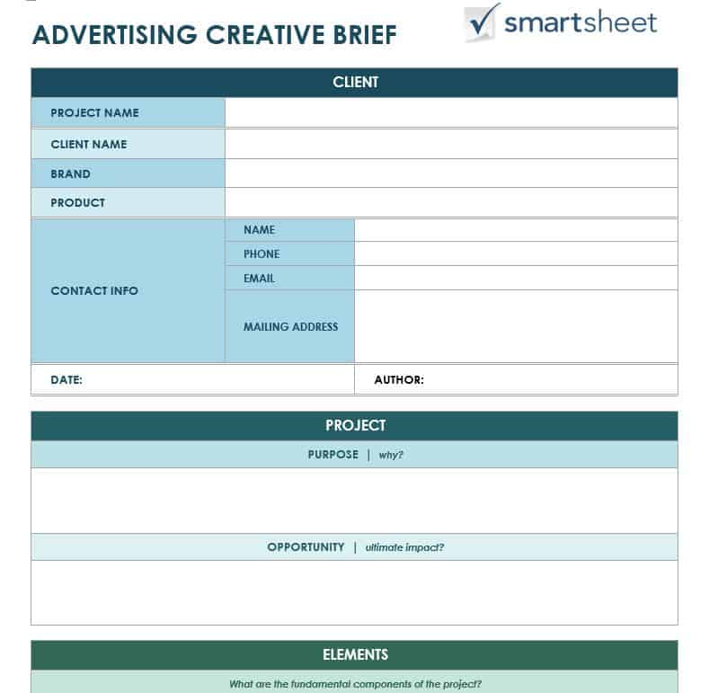Free Creative Brief Templates - Smartsheet - advertising timeline template