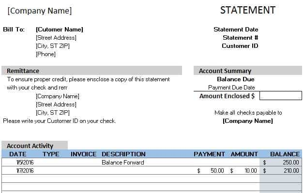 Free Accounting Templates in Excel - blank income statement and balance sheet