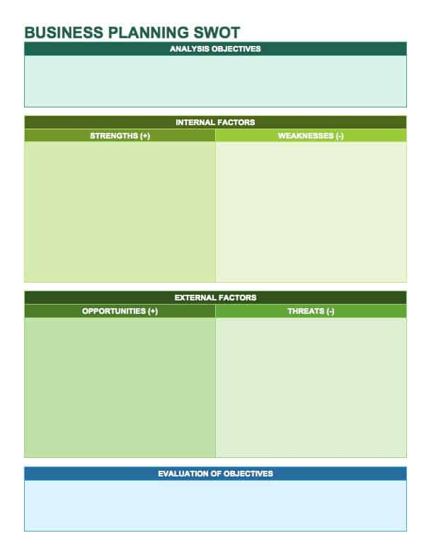 14 Free SWOT Analysis Templates - Smartsheet - competitor matrix template