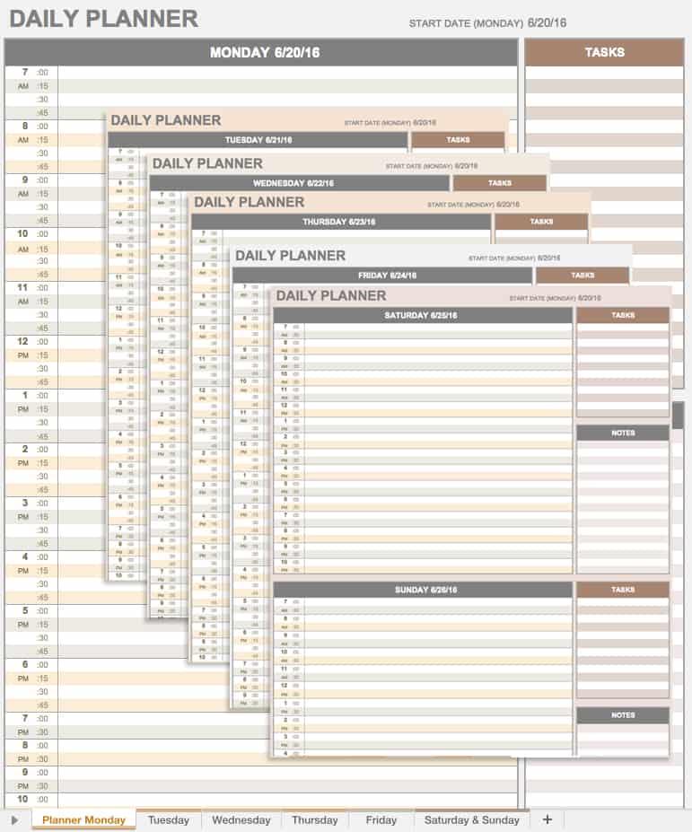 Free Microsoft Office Templates - Smartsheet - microsoft daily planner