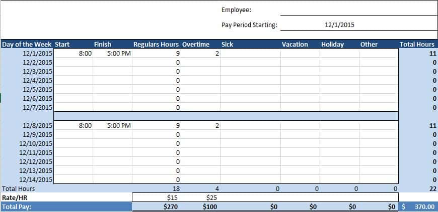 Free Human Resources Templates in Excel - excel job sheet template