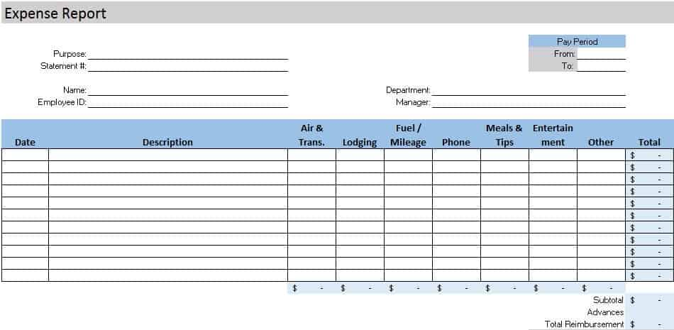 Free Accounting Templates in Excel - free blank spreadsheet templates