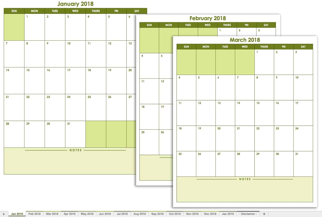Free Calendrier Free Excel Calendar Templates