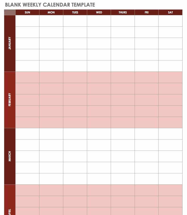 Free Excel Calendar Templates - calendar template