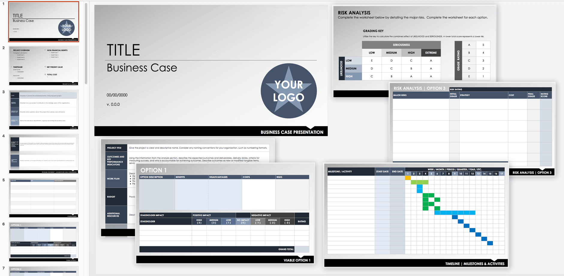 simple business case template ppt