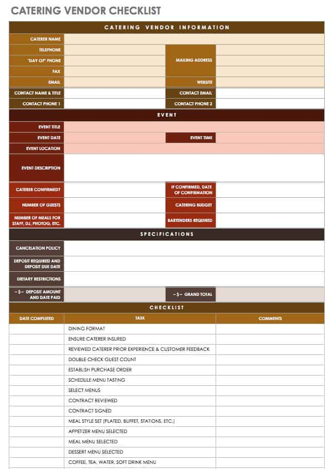 21 Free Event Planning Templates Smartsheet - events planning template