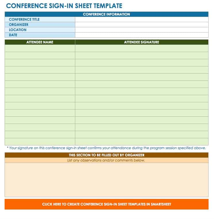 Free Sign-in and Sign-up Sheet Templates Smartsheet - information sheets templates