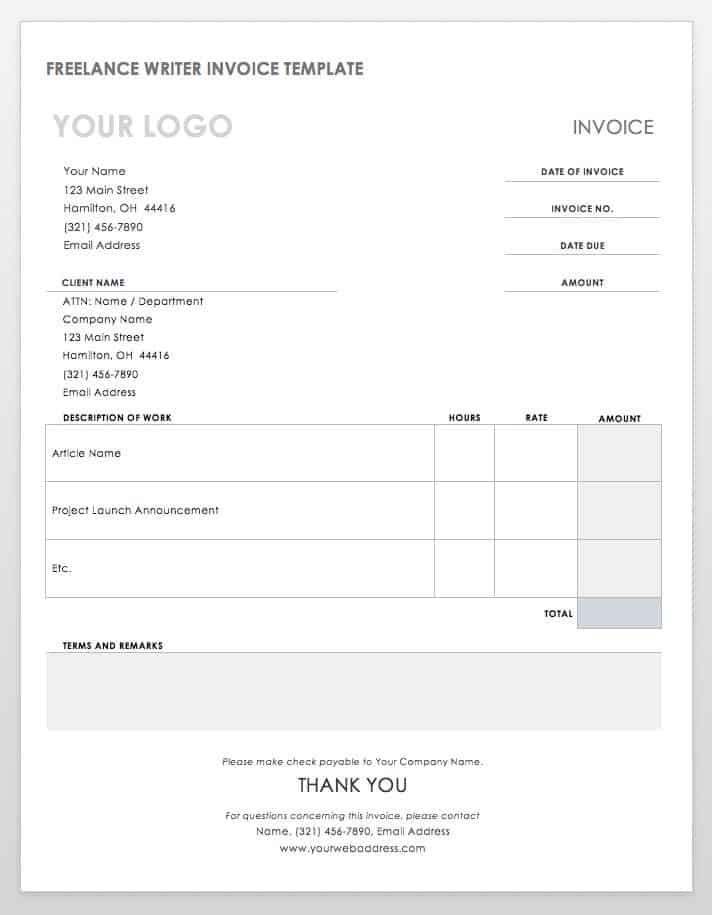 55 Free Invoice Templates Smartsheet - Invoice Word Templates