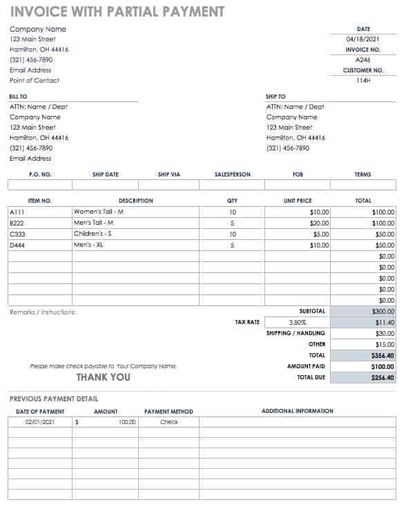 55 Free Invoice Templates Smartsheet - paid invoices