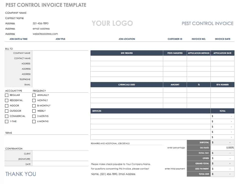 55 Free Invoice Templates Smartsheet - how to type up an invoice