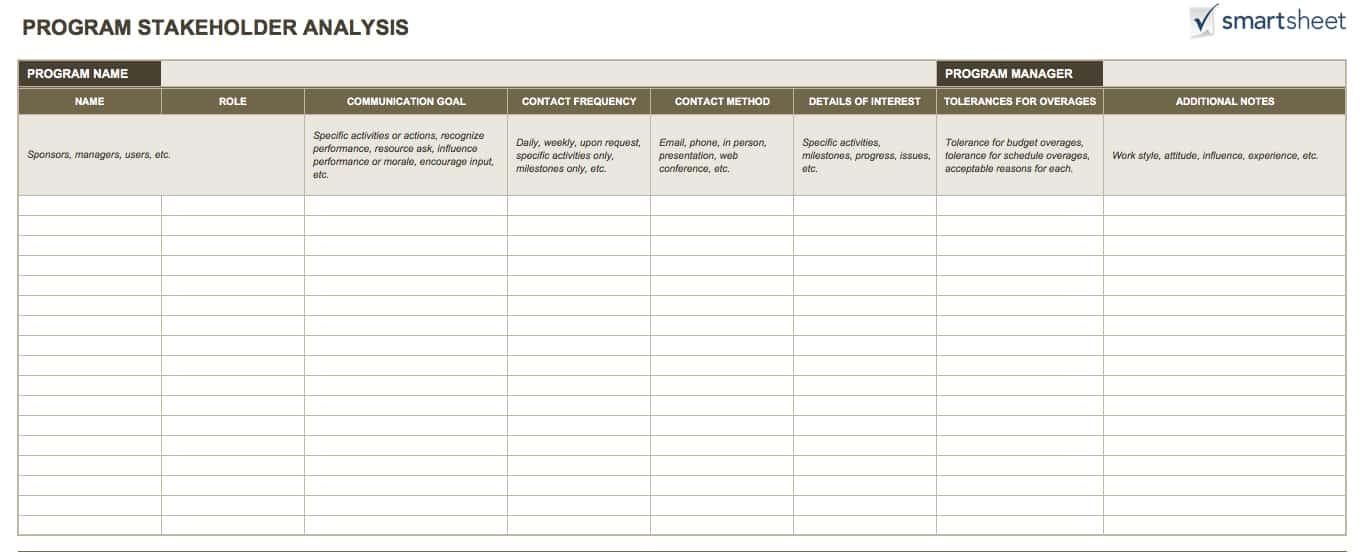14 Free Program Management Templates Smartsheet - management plan template