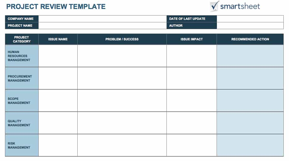 Tools for Defining and Tracking Project Deliverables Smartsheet - management review template