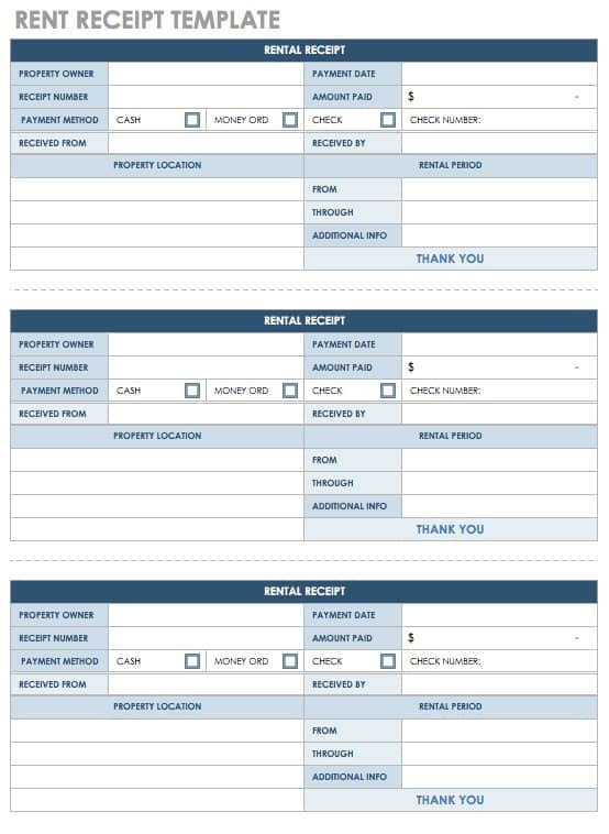 18 Free Property Management Templates Smartsheet - apartment rent receipt