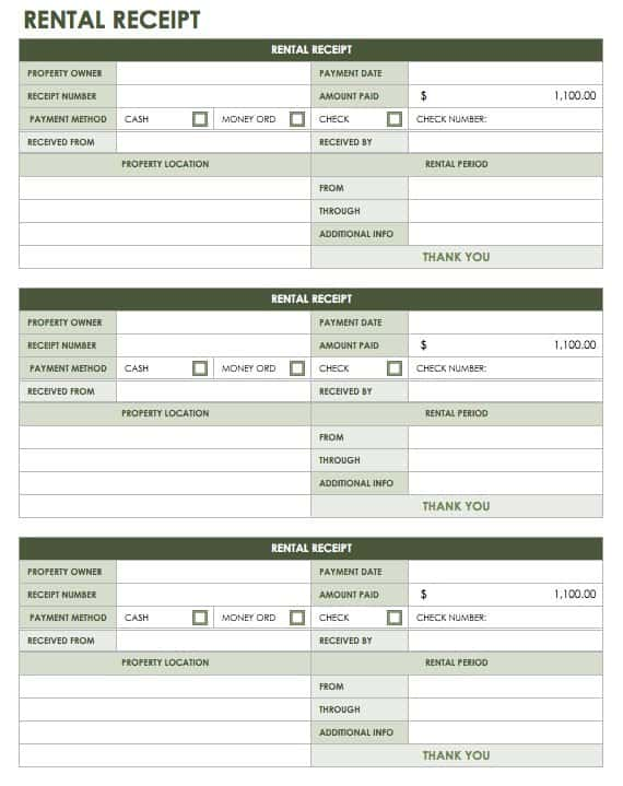 13 Free Business Receipt Templates Smartsheet - official receipt sample format