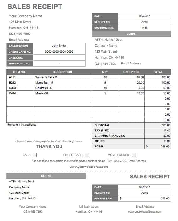 13 Free Business Receipt Templates Smartsheet - official receipt template