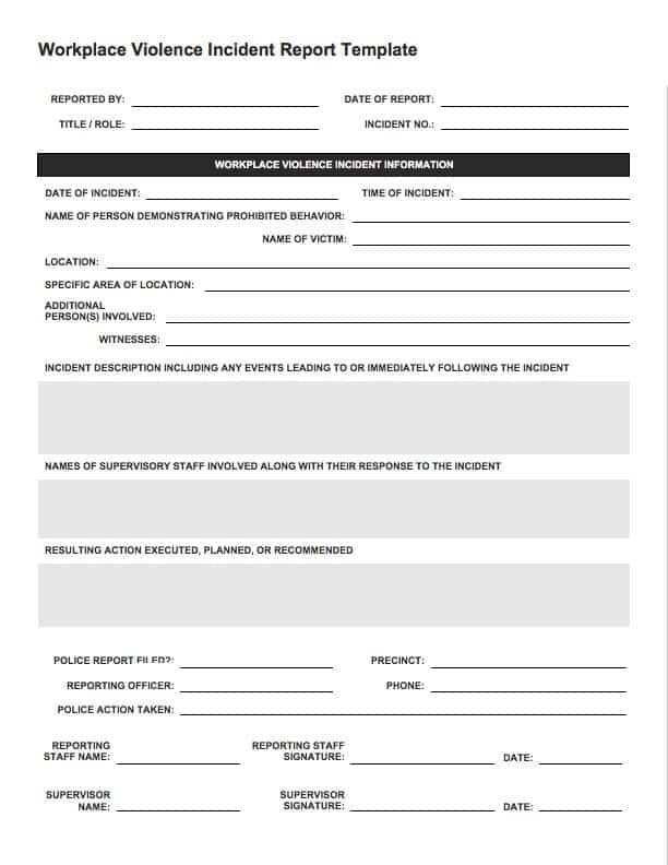 Free Incident Report Templates Smartsheet - police incident report template word
