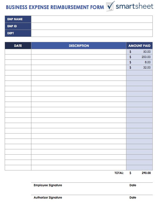 Free Expense Report Templates Smartsheet - printable expense report