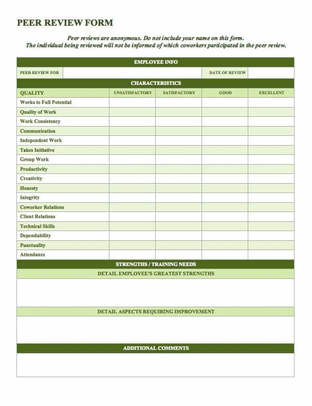 Free Employee Performance Review Templates - Smartsheet - employee self evaluation form