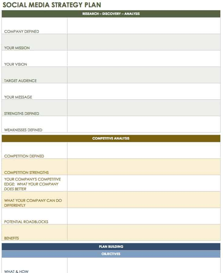 12 Free Social Media Templates - Smartsheet