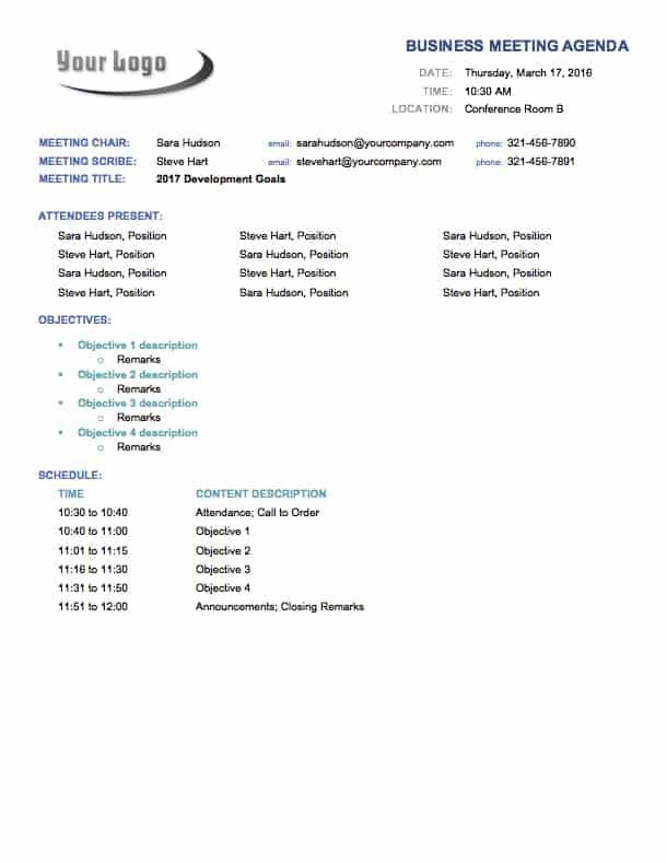 Free Microsoft Office Templates - Smartsheet - microsoft office meeting agenda template