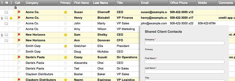 Client Contact List Template Smartsheet - contact list