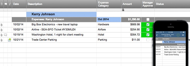 Expense Report Template Smartsheet - expense report template