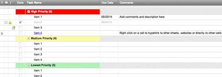 Personal To Do List Template Smartsheet