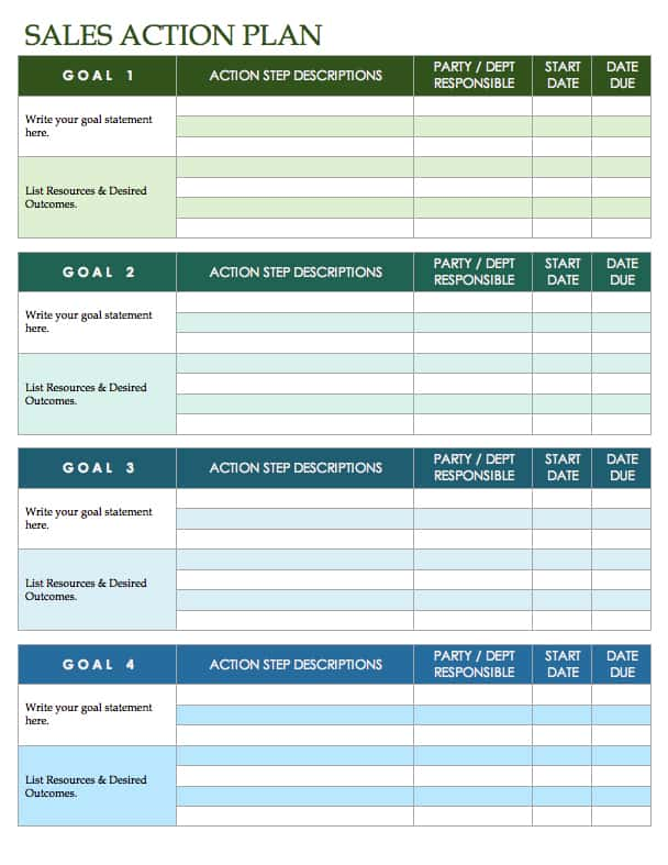 Free Sales Plan Templates - Smartsheet - sales plan format