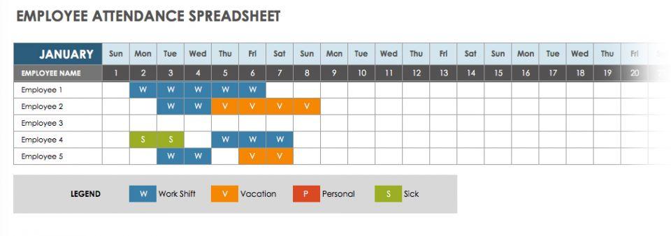 employee monthly attendance sheet template excel - Onwebioinnovate - attendance sheet template word