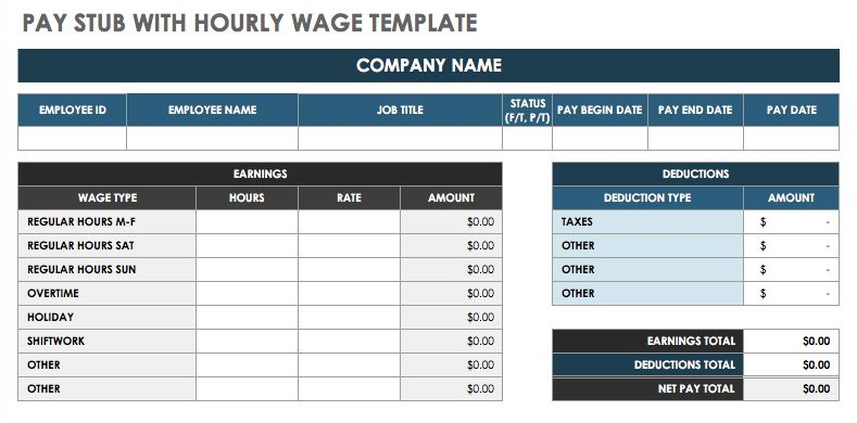 pay stub templates for free - Goalgoodwinmetals - paycheck stub templates free