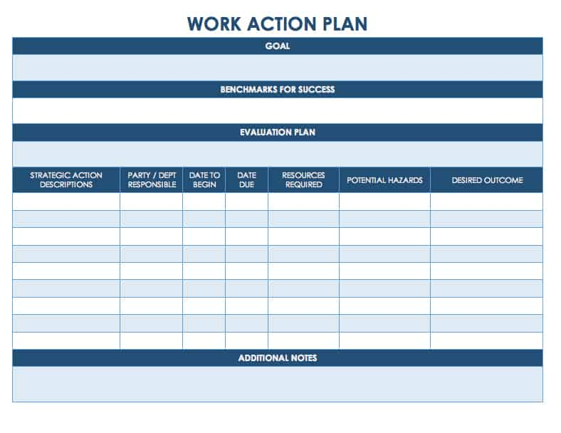 Free Action Plan Templates - Smartsheet - Free Excel Project Planning Templates