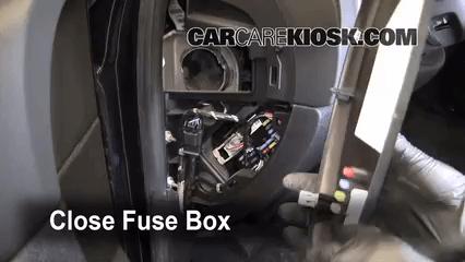 Interior Fuse Box Location 2007 2013 Chevrolet Silverado