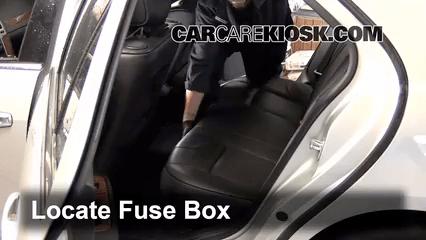 Interior Fuse Box Location 2005-2011 Cadillac STS - 2011 Cadillac