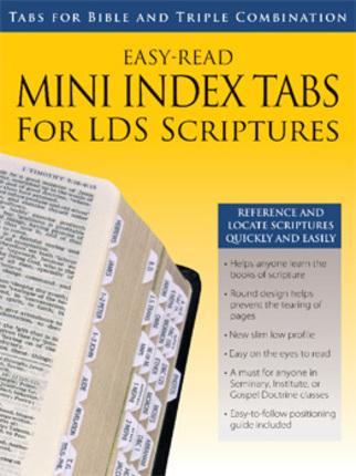 Mini Index Tabs for LDS Scriptures - Deseret Book