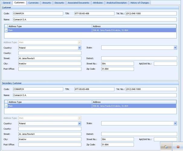 Advance sales invoice ALTUM