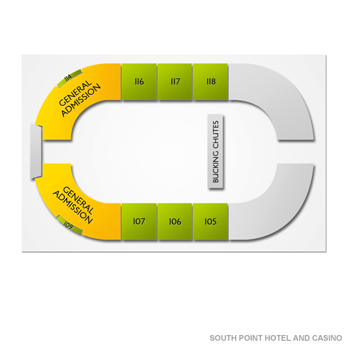 South Point Showroom, Las Vegas, NV - Seating Chart  Stage - Las