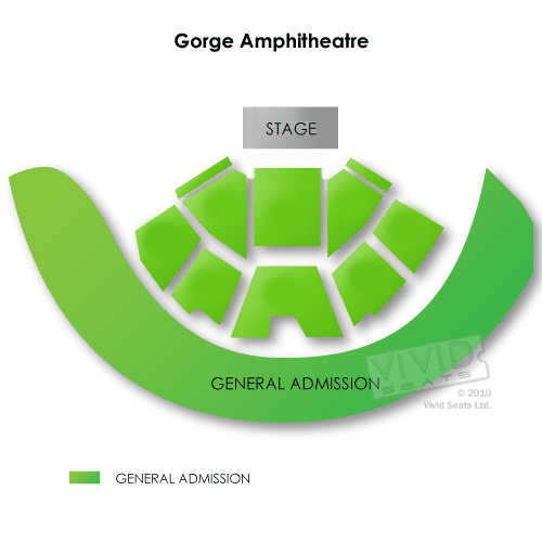 Gorge Concerts Navigating the Gorge Seating Chart for Live Music