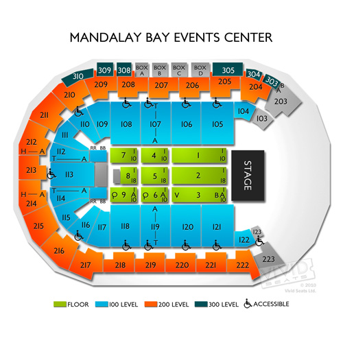 Mandalay Bay Seating Chart and Events Schedule Vivid Seats