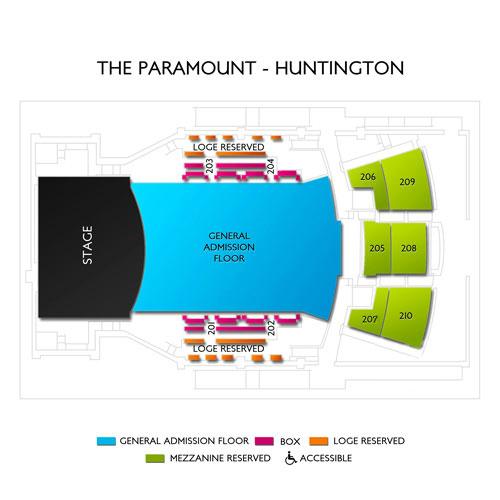 paramount huntington seating chart photo of the paramount