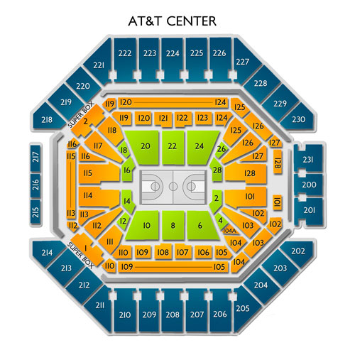 Spurs vs Mavericks Tickets at ATT Center - 4/10/19