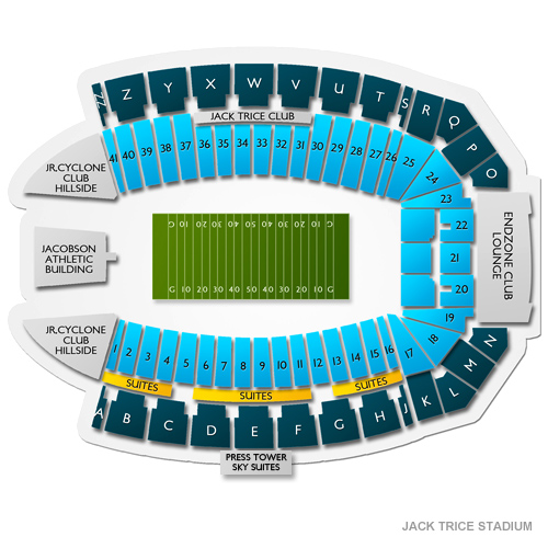 Jack Trice Stadium, Ames, IA - Seating Chart  Stage - Ames Theater