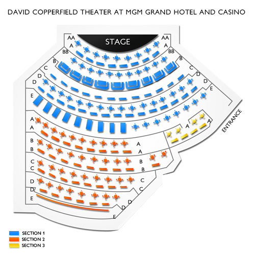 MGM Grand Hollywood Theater, Las Vegas, NV - Seating Chart  Stage