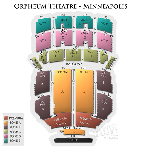 orpheum theatre minneapolis seating chart - Kopeimpulsar